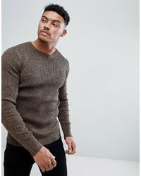 brauner Pullover mit einem Rundhalsausschnitt von ASOS DESIGN