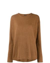 brauner Pullover mit einem Rundhalsausschnitt von Aspesi