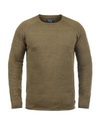 brauner Pullover mit einem Rundhalsausschnitt von BLEND