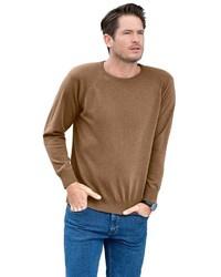 brauner Pullover mit einem Rundhalsausschnitt von CATAMARAN