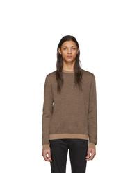 brauner Pullover mit einem Rundhalsausschnitt von Fendi