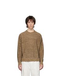 brauner Pullover mit einem Rundhalsausschnitt von Lemaire