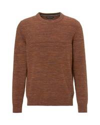 brauner Pullover mit einem Rundhalsausschnitt von Marc O'Polo