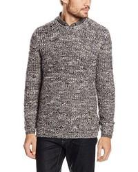 brauner Pullover mit einem Rundhalsausschnitt von New Look