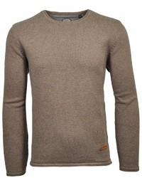 brauner Pullover mit einem Rundhalsausschnitt von RAGMAN