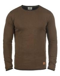 brauner Pullover mit einem Rundhalsausschnitt von Redefined Rebel