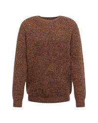 brauner Pullover mit einem Rundhalsausschnitt von REVIEW