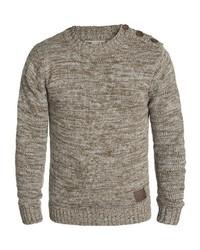 brauner Pullover mit einem Rundhalsausschnitt von Solid