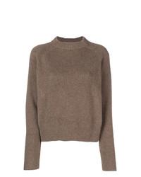 brauner Pullover mit einem Rundhalsausschnitt von The Row