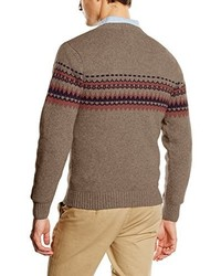 brauner Pullover mit einem V-Ausschnitt von El Ganso
