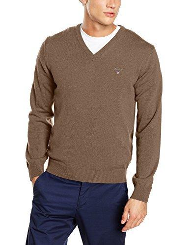 cheap for discount 38ef7 c213c €99, brauner Pullover mit einem V-Ausschnitt von Gant