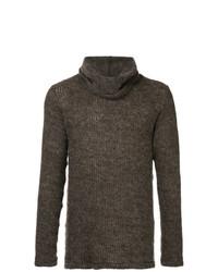 brauner Pullover mit einer weiten Rollkragen von Zambesi