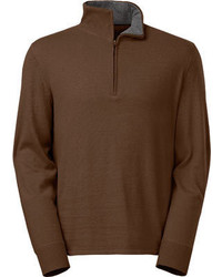 Pullover mit reissverschluss am kragen