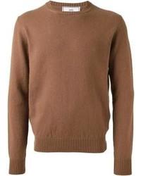 Brauner pullover mit rundhalsausschnitt original 402696