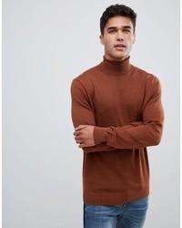 brauner Rollkragenpullover von Burton Menswear