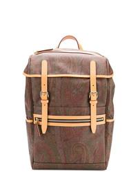 brauner Rucksack mit Paisley-Muster von Etro