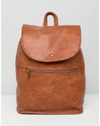 brauner Rucksack von ASOS DESIGN