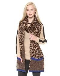 brauner Schal mit Leopardenmuster von Marc by Marc Jacobs