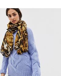 brauner Schal mit Leopardenmuster von My Accessories