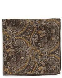 brauner Schal mit Paisley-Muster