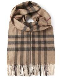 brauner Schal mit Schottenmuster von Burberry