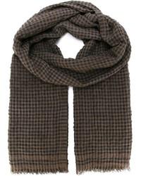 Brauner Schal mit Vichy-Muster