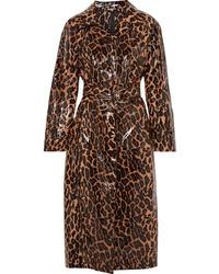 brauner Trenchcoat mit Leopardenmuster von Miu Miu