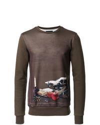 braunes bedrucktes Sweatshirt