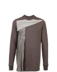braunes bedrucktes Sweatshirt von Rick Owens