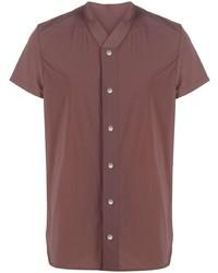 braunes Kurzarmhemd von Rick Owens