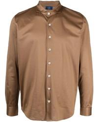 braunes Langarmhemd von Barba