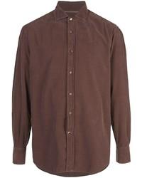 braunes Langarmhemd von Brunello Cucinelli