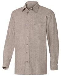 braunes Langarmhemd von Classic
