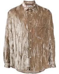 braunes Langarmhemd von Cmmn Swdn
