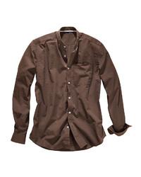 braunes Langarmhemd von Eddie Bauer