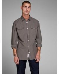 braunes Langarmhemd von Jack & Jones