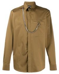 braunes Langarmhemd von Just Cavalli