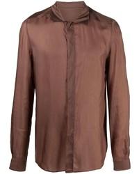 braunes Langarmhemd von Rick Owens