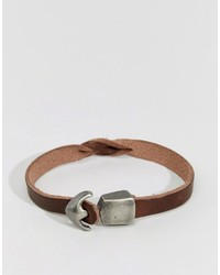braunes Lederarmband von Jack and Jones