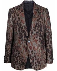 braunes Sakko mit Leopardenmuster von Etro