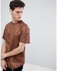 braunes T-Shirt mit einem Rundhalsausschnitt von Tom Tailor
