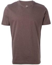 braunes T-Shirt mit Rundhalsausschnitt