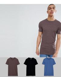 braunes T-Shirt mit einem Rundhalsausschnitt von ASOS DESIGN
