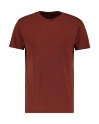 braunes T-Shirt mit einem Rundhalsausschnitt von Pier One