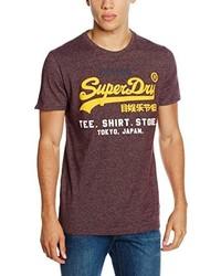 braunes T-Shirt mit einem Rundhalsausschnitt von Superdry