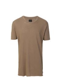 braunes T-Shirt mit einem Rundhalsausschnitt von Thom Krom