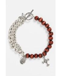 braunes verziert mit Perlen Armband