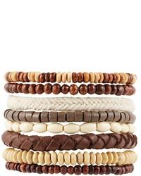 braunes Perlen Armband von Asos