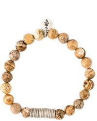 braunes Perlen Armband von Eleventy