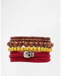 braunes Perlen Armband von Icon Brand
